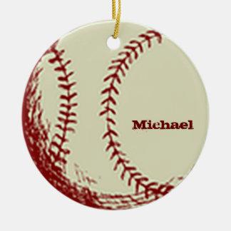 Personalized Vintage Baseball Ornament