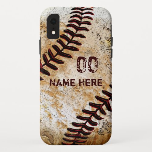 Personalized Vintage Baseball Phone Cases