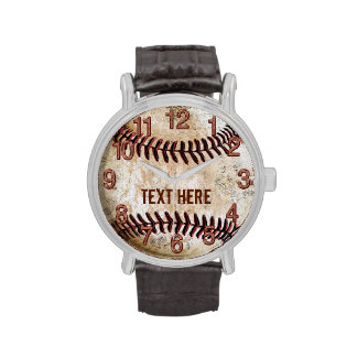 Personalized Vintage Baseball Watches YOUR TEXT