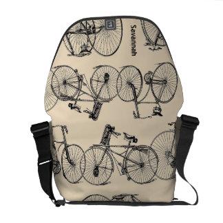 Personalized Vintage Bike Bicycle Messenger Bag