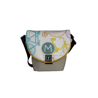 Personalized Vintage Bike Bicycle Messenger Bag