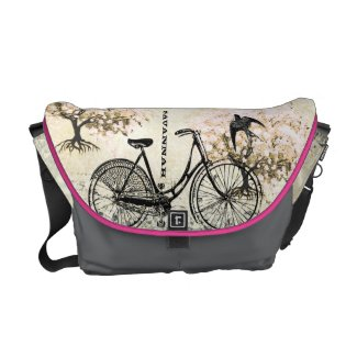 Personalized Vintage Bike Bicycle Messenger Bag rickshawmessengerbag