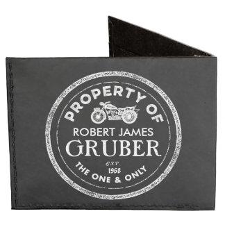 Personalized Vintage Biker Wallet