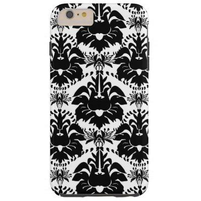 Personalized Vintage Black Damask Tough iPhone 6 Plus Case