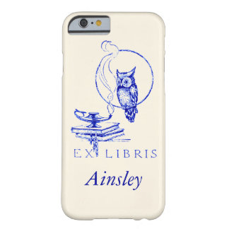 Personalized Vintage Blue Owl Barely There iPhone 6 Case