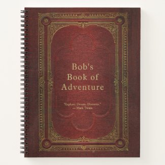 Personalized Vintage Book Travel Journal