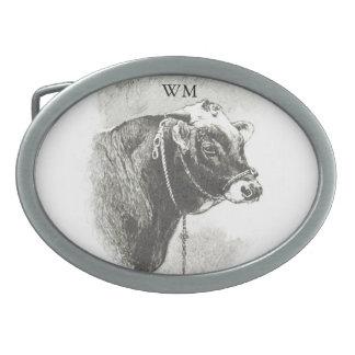 Personalized Vintage Bull Belt Buckle