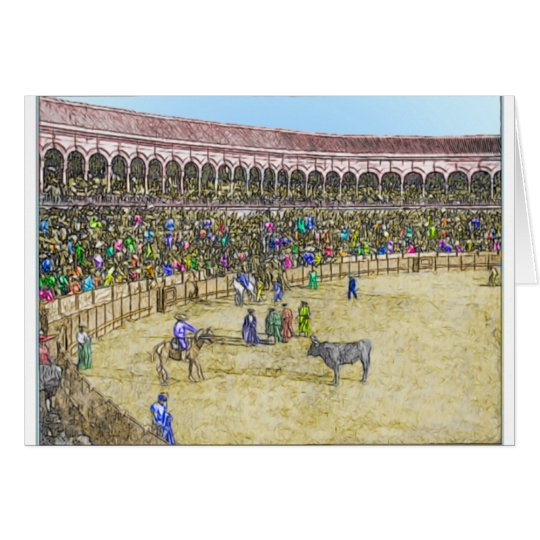 Personalized Vintage Bullfight Card