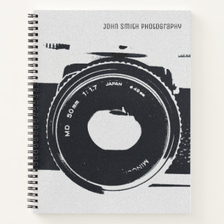 Personalized, Vintage Camera Image Notebook