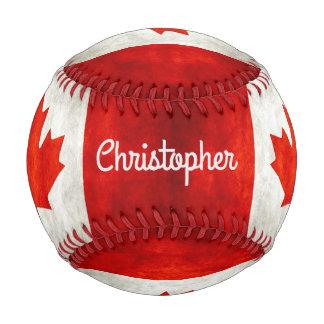 Personalized Vintage Canadian Flag Baseball