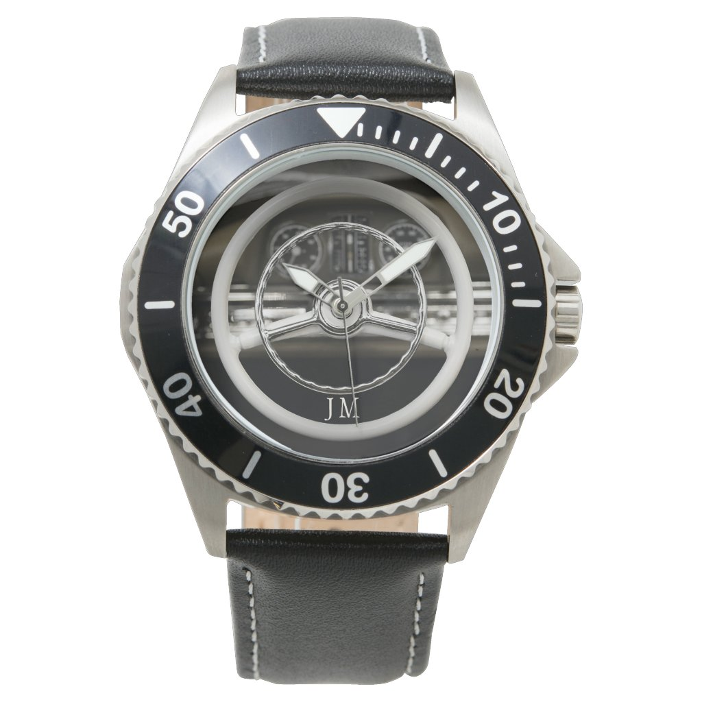 Personalized Vintage Car Steering Wheel Watch