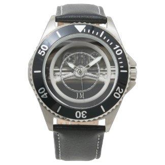 Personalized Vintage Car Steering Wheel Watch