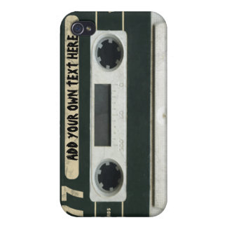 Personalized vintage Cassette Tape iPhone4/4s skin Cover For iPhone 4