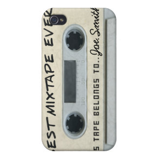 Personalized vintage Cassette Tape iPhone4/4s skin iPhone 4/4S Case