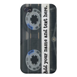 Personalized vintage Cassette Tape iPhone4/4s skin iPhone 4 Cover