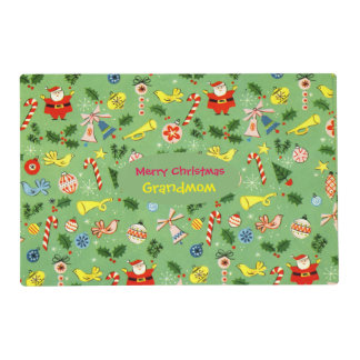 Personalized Vintage-Christmas Placemat Gift