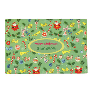 Personalized Vintage Christmas Wrap Placemat