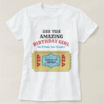 Personalized Vintage Circus Birthday Shirt