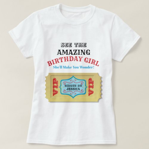 Personalized Vintage Circus Birthday Shirt