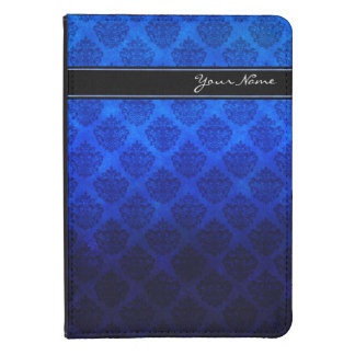 Personalized Vintage Damask Blue Grunge Texture Kindle Touch Case