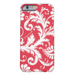 Personalized Vintage Damask change red any color iPhone 6 Case