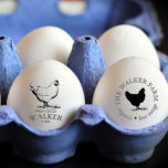 """Personalized Vintage ⎢ Egg Stamp<br><div class=""""desc"""">Personalized egg stamps for your homestead or family farm with beautiful chicken / duck illustrations and monograms or information in farmhouse font. These stamps are designed to be used with the handle for better application and we have not included the ink as it is up to you to choose one...</div>"""