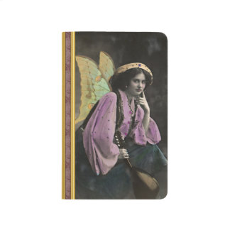 Personalized Vintage Fairy with mandolin Photo Journal