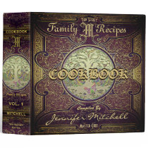 Personalized Vintage Family Recipe Cookbook Binder