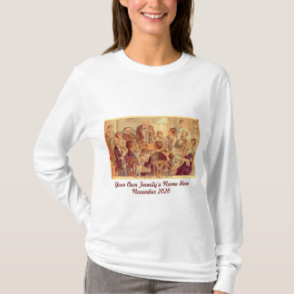 Personalized Vintage Family Thanksgiving T-Shirt