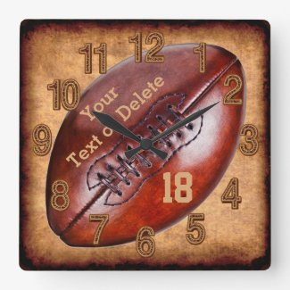 Personalized Vintage Football Decor NAME, NUMBER