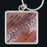 "Personalized Vintage Football Team Gifts YOUR TEXT Keychain<br><div class=""desc"">Personalized Vintage Football Team Gifts. Cool Vintage Football Keychains with YOUR TEXT typed into text box templates to your right. Premium Silver yet affordable football keychains. Be sure to see BOTH text boxes. CLICK &quot;More&quot; if needed under &quot;Edit this design template&quot;. Personalize ONE football keychain at a time and ADD...</div>"