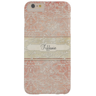 Personalized Vintage French Regency Lace Etched Barely There iPhone 6 Plus Case