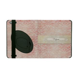 Personalized Vintage French Regency Lace Etched iPad Cover