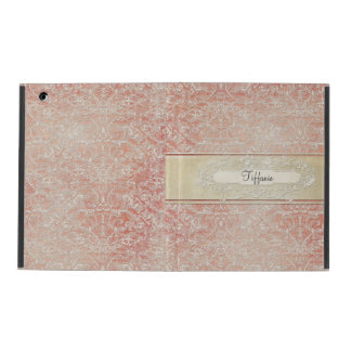 Personalized Vintage French Regency Lace Etched iPad Folio Case