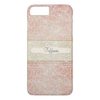 Personalized Vintage French Regency Lace Etched iPhone 8 Plus/7 Plus Case