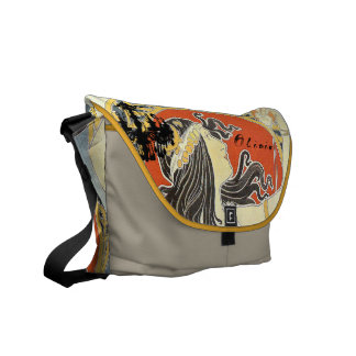 Personalized Vintage Girl Chandelier Messenger Bag