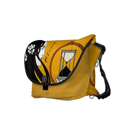 Personalized Vintage Girl Hour Glass Messenger Bag