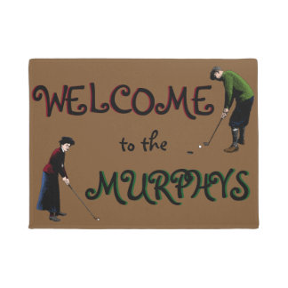 Personalized Vintage Golf Welcome Mat