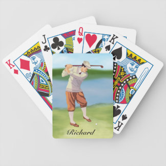 Personalized Vintage Golfer by Riverbank Card Decks