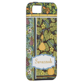 Personalized Vintage Gourd Pattern iphone iPhone 5 Case