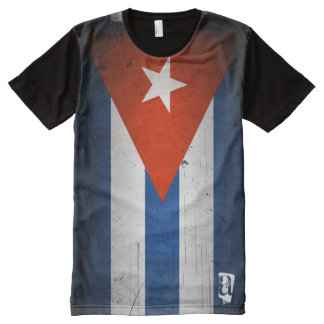 Personalized Vintage Grunge Cuba Cuban Flag All-Over Print Shirt