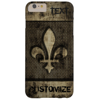 Personalized Vintage Grunge  Fleur De Lis Barely There iPhone 6 Plus Case