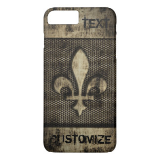 Personalized Vintage Grunge  Fleur De Lis iPhone 7 Plus Case