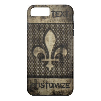 Personalized Vintage Grunge  Fleur De Lis iPhone 8 Plus/7 Plus Case