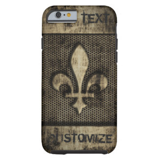 Personalized Vintage Grunge  Fleur De Lis Tough iPhone 6 Case