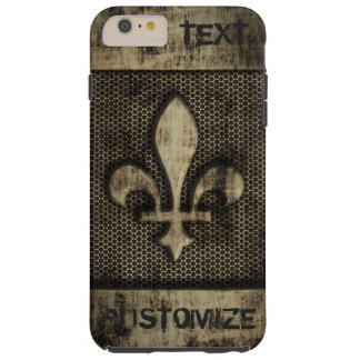 Personalized Vintage Grunge  Fleur De Lis Tough iPhone 6 Plus Case