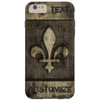 Personalized Vintage Grunge  Fleur De Lis Tough iPhone 6 Plus Case