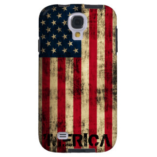 Personalized Vintage Grunge Merica Flag Galaxy S4 Case