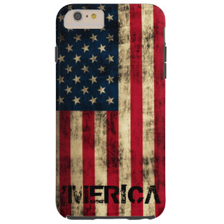 Personalized Vintage Grunge 'Merica Flag Tough iPhone 6 Plus Case