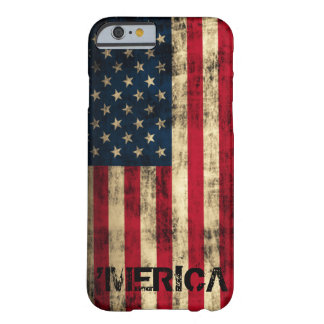 Personalized Vintage Grunge 'Merica Flag Barely There iPhone 6 Case